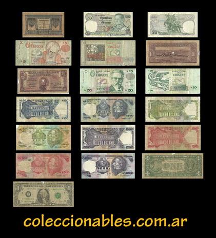 billetes antiguos y coleccionables